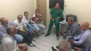 Francisco Magalhães reuniu-se com corpo clínico e gestores da terceirizada IFF