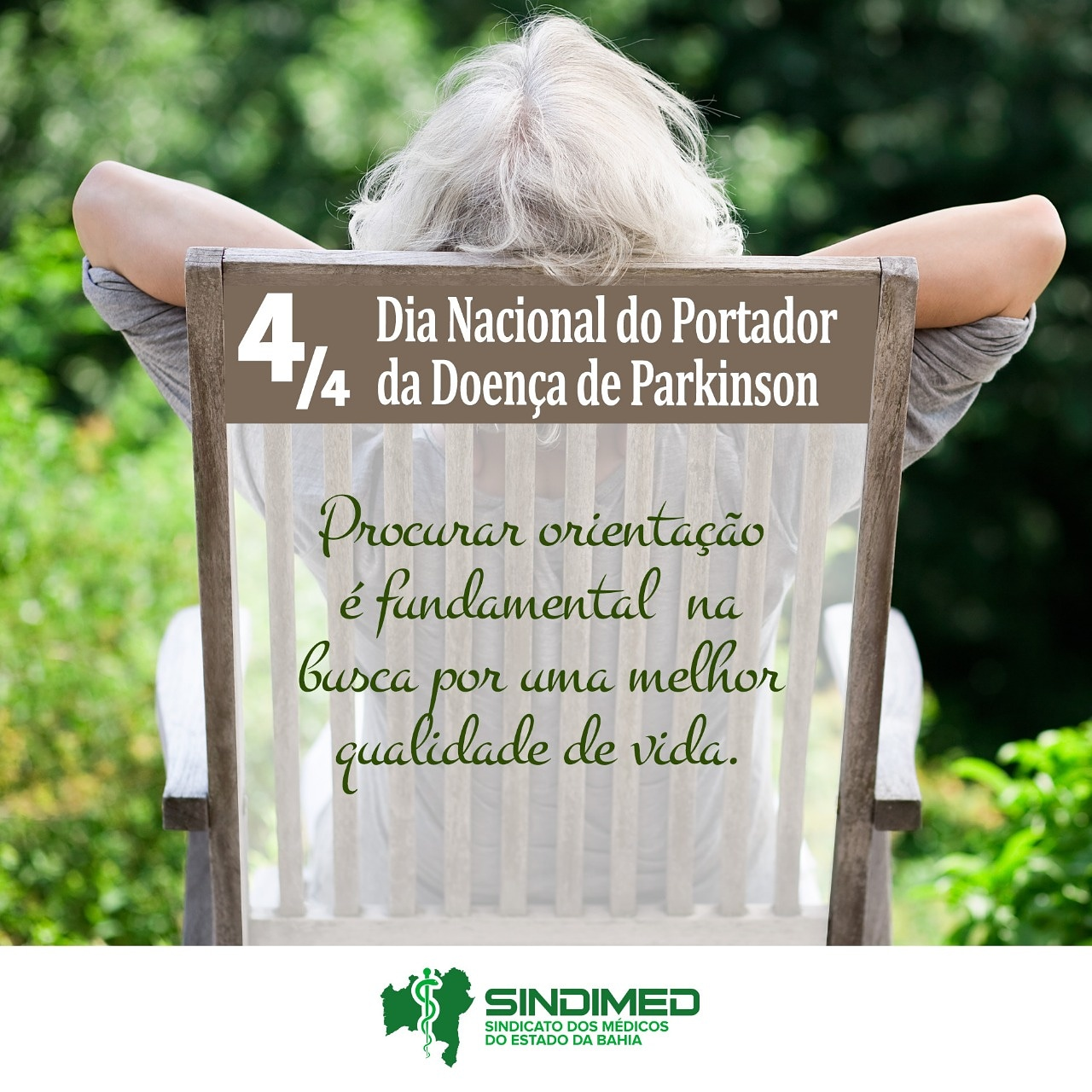 No Brasil, hoje é o Dia dedicado ao Portador da Doença de Parkinson.