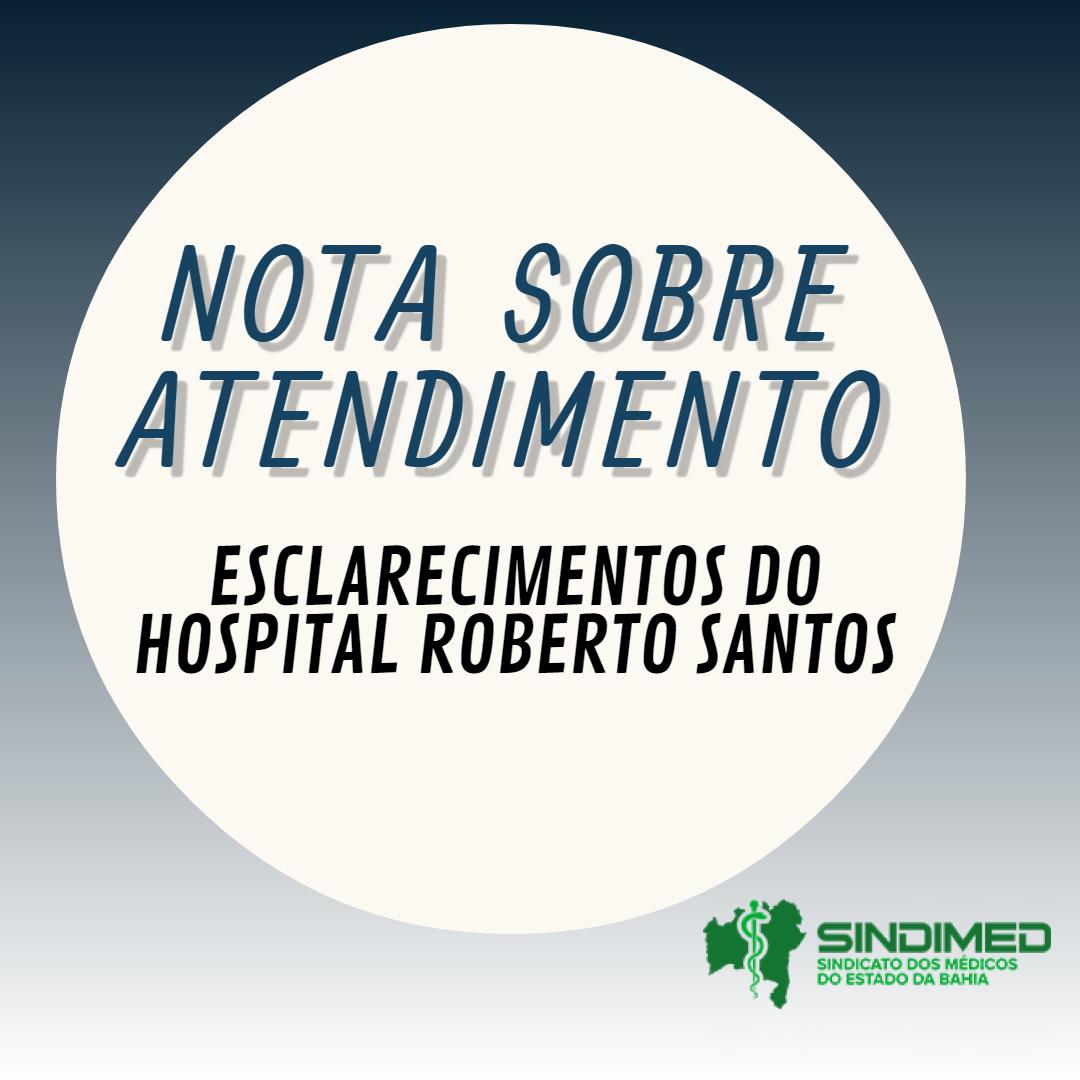 atendimento no Hospital Roberto Santos