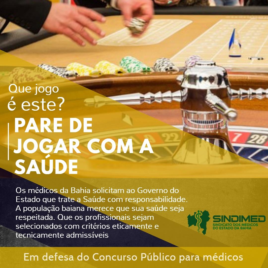 A Saúde tem que ser tratada com seriedade. A população e os médicos merecem respeito. #emdefesadasaude #baianos #Bahia #médicosdaBahia #SIndimedba