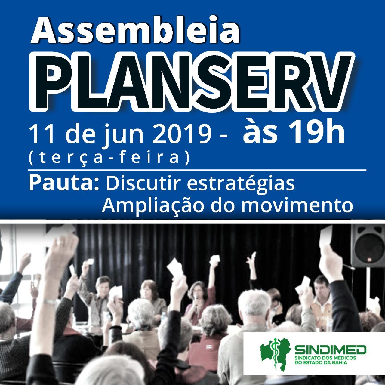 Na terça-feira, acontece nova Assembleia do Planserv