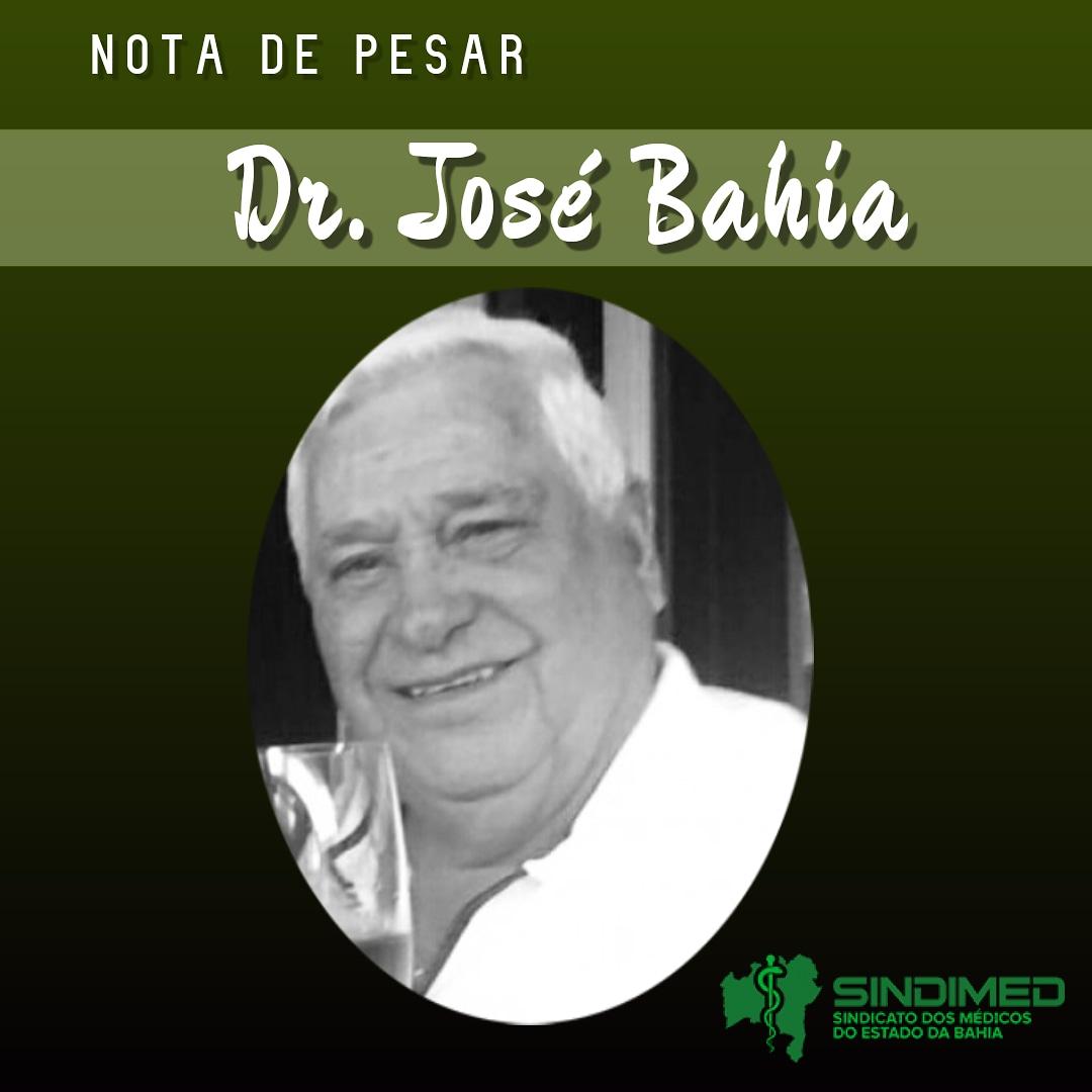 É com grande pesar que o Sindicato dos Médicos do Estado da Bahia informa o falecimento do colega Dr. José Bahia. Cirurgião Pediátrico e professor universitário em sua especialidade, ele construiu uma notável carreira na Medicina. Nossas condolências à família. #notadepesar