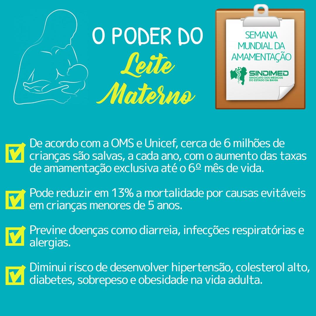 Estudo divulgado pelo Ministério da Saúde mostra que a amamentação contribui para a redução da mortalidade infantil e materna. 823 mil mortes de crianças e de 20 mil de mães poderiam ser evitadas a cada ano com a ampliação da amamentação, segundo o trabalho. Espalhe por aí os benefícios do leite materno e incentive a amamentação. #espalheporaí #benefíciosdoleitematerno #SemanaMundialdeAleitamentoMaterno #SemanaMundialdaAmamentação #amor #proteção #vida. #Sindimedpelavida #SindimedBA