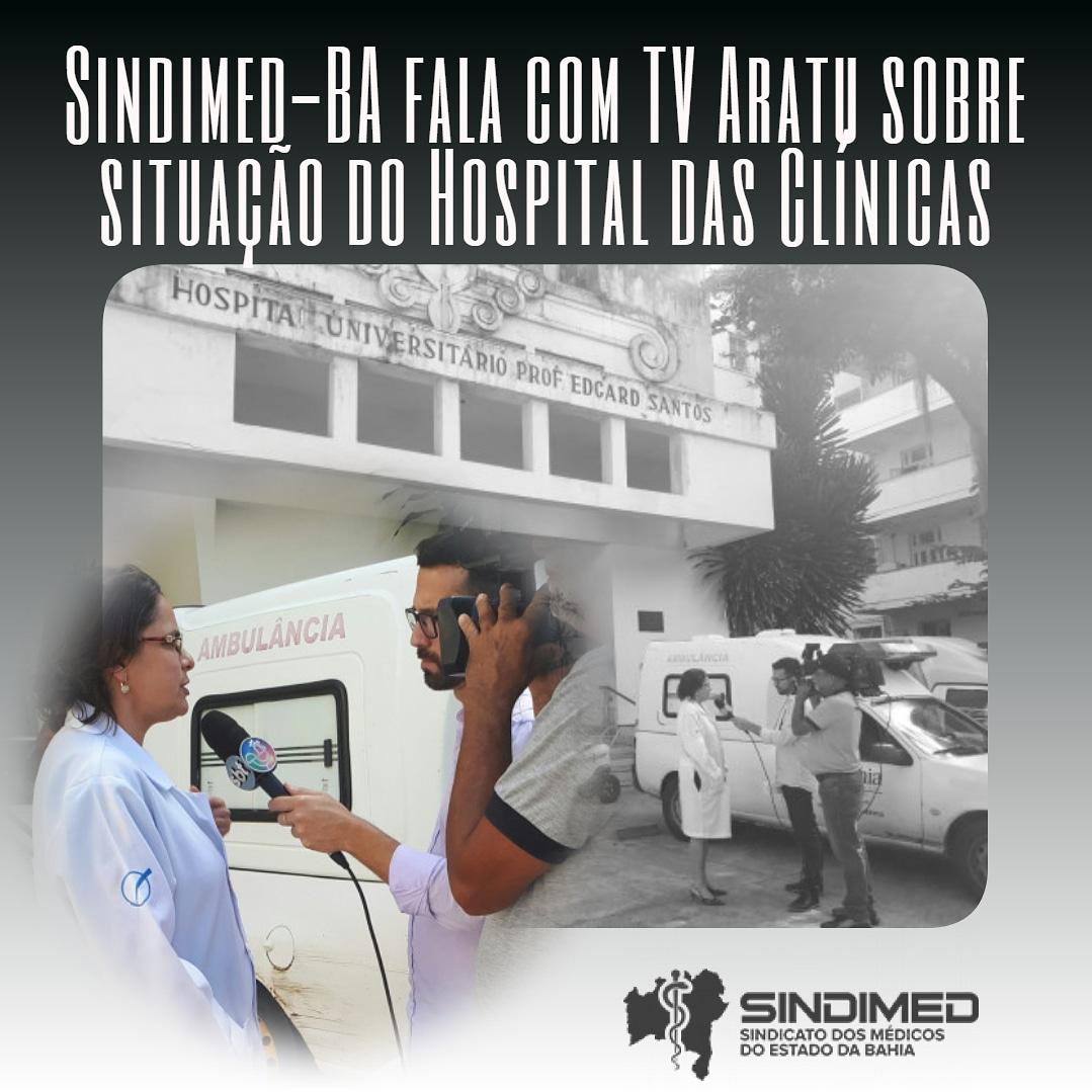 A presidente do Sindicato dos Médicos do Estado da Bahia, Dra. Ana Rita de Luna Freire Peixoto, deu entrevista ao Jornalismo da TV Aratu, comentando dificuldades do Hospital das Clínicas (Hospital Universitário Professor Edgard Santos). #HospitaldasClínicas #Entrevista #SindimedBA #TVAratu