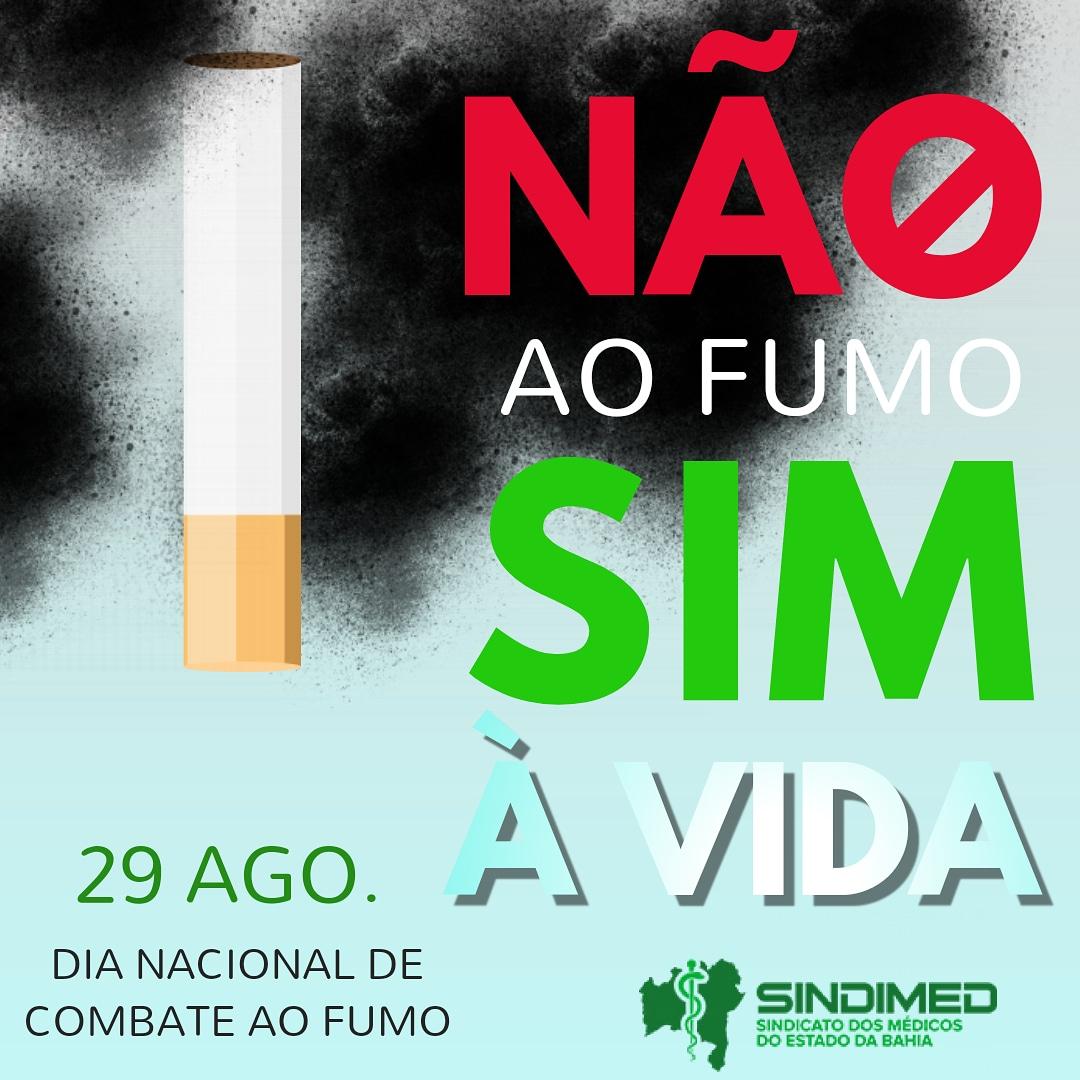 Hoje, 29 de agosto, é a data instituída como o Dia Nacional de Combate ao Fumo. A intenção é enfatizar as ações de sensibilização e mobilização da população para os danos para a saúde, sociais, políticos, econômicos e ambientais causados pelo tabaco. A data foi instituída, em 1986, pela Lei Federal 7.488. Marca a normatização voltada para o controle do tabagismo como problema de saúde coletiva. #Combateaofumo #pelasaúde #pelavida #SindimedBA #saúde #Brasil #Bahia