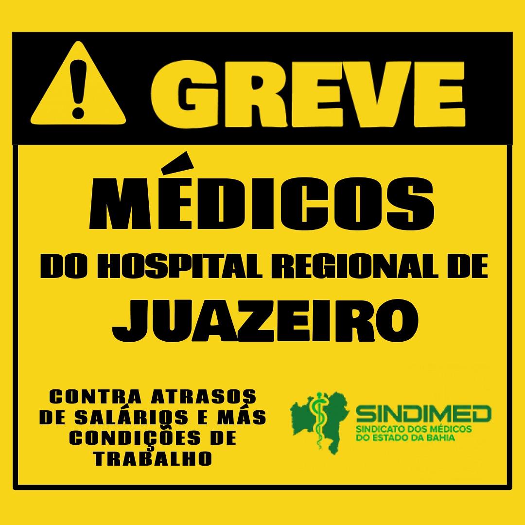 Foi deflagrada, zero hora de hoje, greve dos médicos do Hospital Regional de Juazeiro. Os profissionais estão mobilizados por melhores condições de trabalho e contra os atrasos salariais. #Grevedosmédicos #médicosdeJuazeiro #juazeiro #JuazeiroBahia #mobilizaçãodosmédicos #regularização dos salários #melhorescondiçõesdetrabalho #Sindimed #SindimedBahia #SindicatodosMédicos #emdefesadaSaúde #Bahia #EstadodaBahia