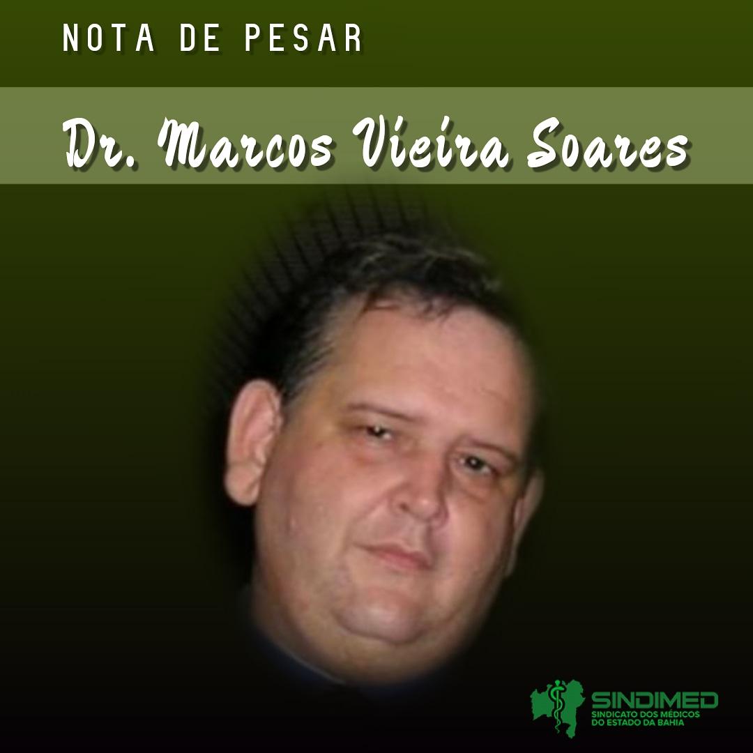 É com pesar que o Sindicato dos Médicos do Estado da Bahia informa o falecimento do colega Dr. Marcos Vieira Soares. Nossas condolências à família. #notadepesar
