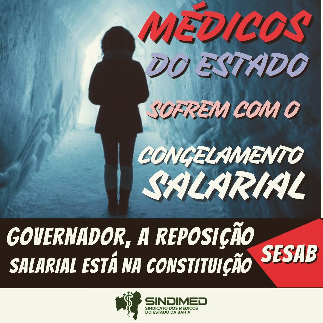 Urgência: descongelar a saúde. #MédicosdaBahia #sesab #governodaBahia #Atualização #respeitoàsaúde #SindimedBA