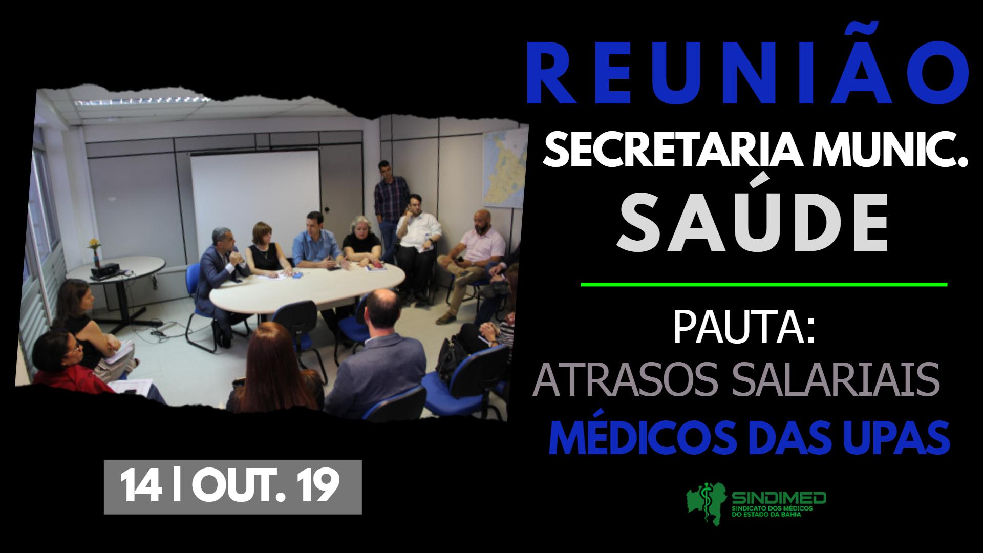 O Sindimed esteve, mais uma vez, em reunião na Secretaria Municipal da Saúde para tratar dos atrasos salariais dos médicos das UPAs. #SindimedBA #médicosdeSalvador #respeitopelavida