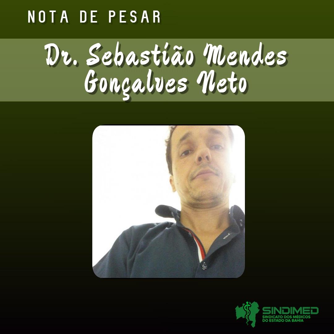 É com pesar que o Sindicato dos Médicos do Estado da Bahia informa o falecimento do médico Sebastião Mendes Gonçalves Neto, de 39 anos. Graduado no Rio de Janeiro, ele atuava em Caetité.