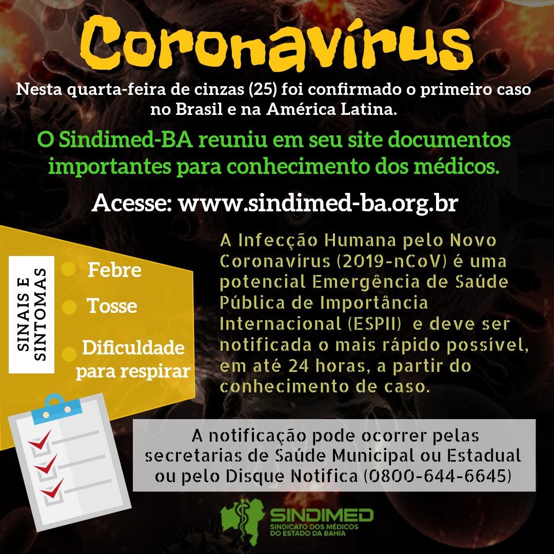 Coronavírus: documentos importantes para os médicos