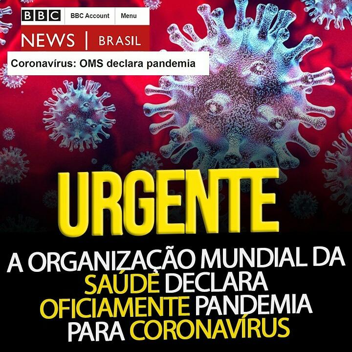 OMs declara oficialmente pandemia para coronavírus