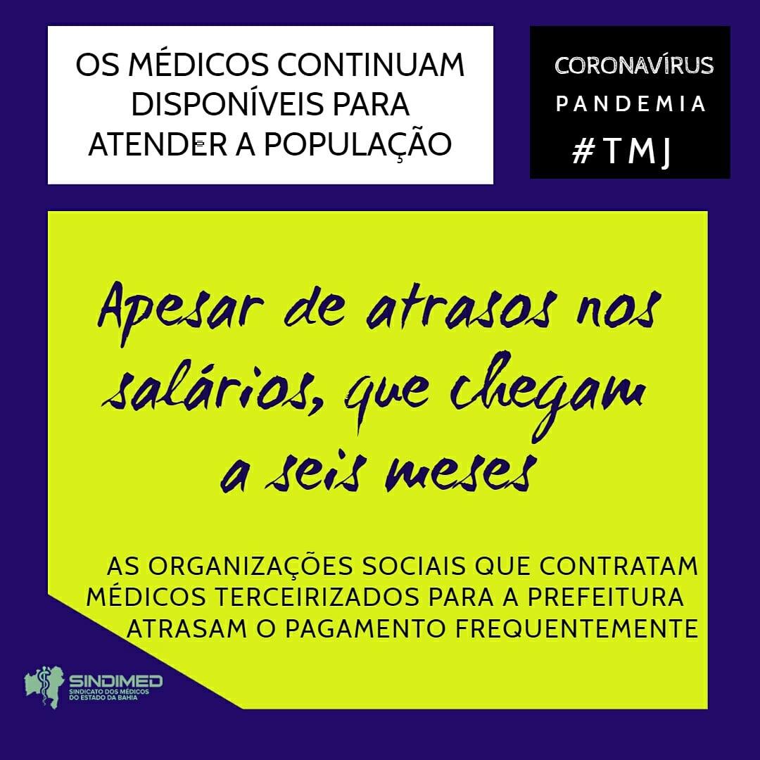 #coronavirus #coronavirusbahia #coronavirusbrasil #médicosdabahia #sindimedba