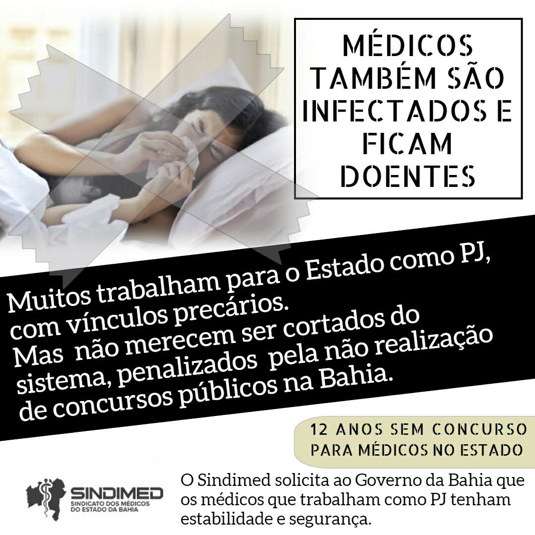 Sindimed solicita ao Governo da Bahia que médicos PJ tenham estabilidade e segurança