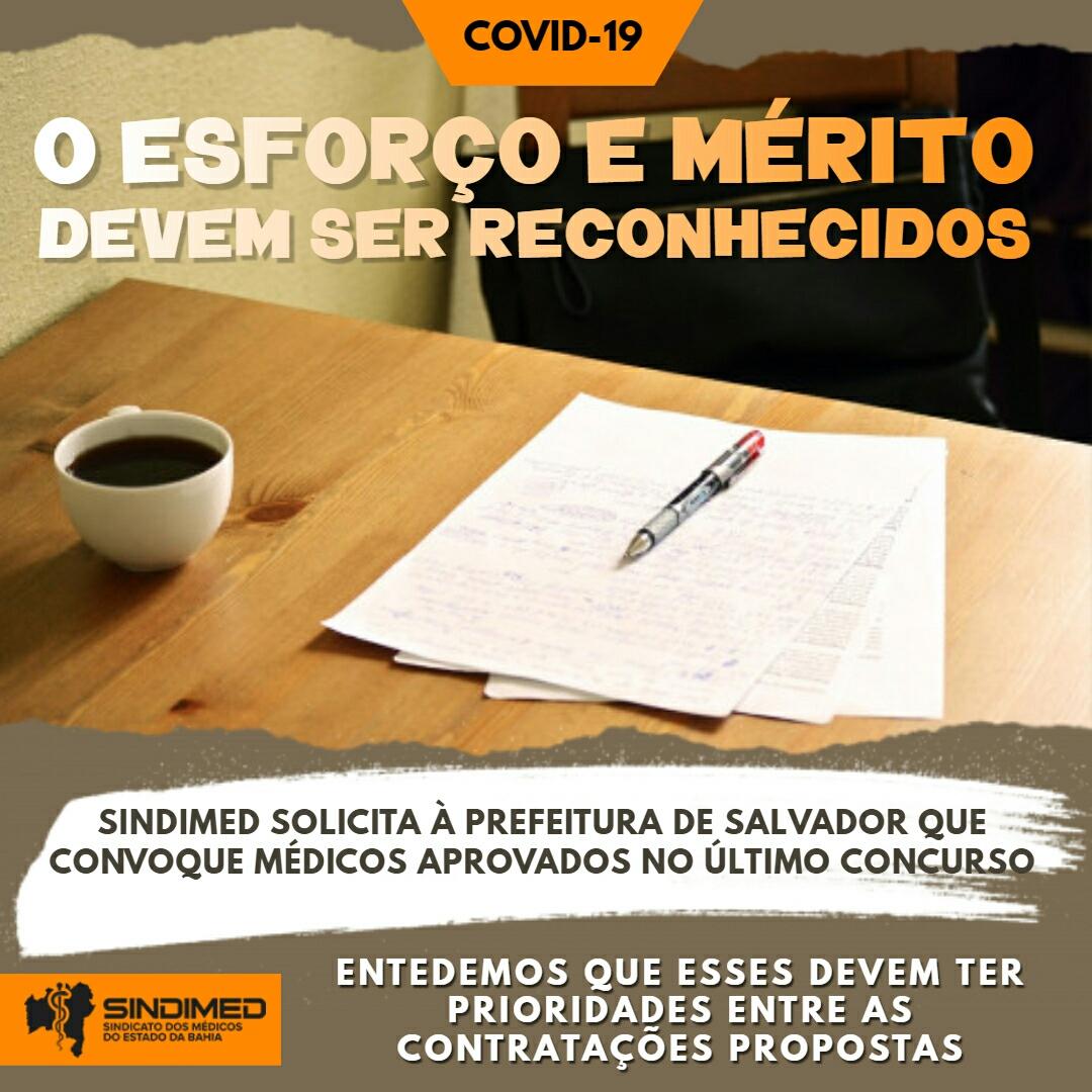Sindimed-BA solicita à Prefeitura de Salvador que sejam convocados os médicos aprovados no último concurso