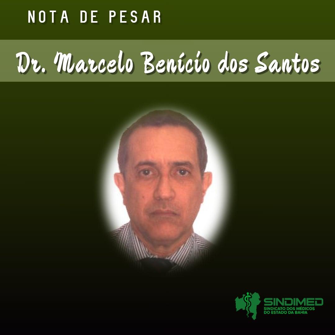 O Sindicato dos Médicos do Estado da Bahia informa com pesar o falecimento do médico Marcelo Benício dos Santos. Dr. Marcelo graduou-se em Medicina na Universidade Federal da Bahia, na turma de 1978. Radiologista, com mestrado e doutorado em Medicina, era professor titular da Universidade Federal da Bahia.