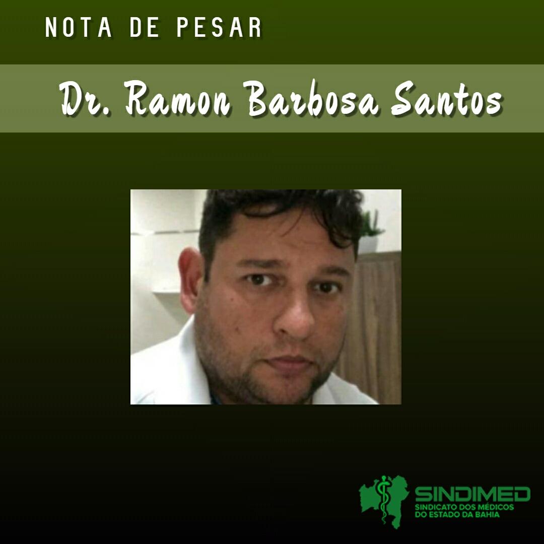 O Sindicato dos Médicos do Estado da Bahia informa com pesar o falecimento do médico Ramon Barbosa Santos. Dr. Ramon tinha 43 anos de idade e foi vitimado pela covid-19.  Ele atuava, como médico terceirizado, no Hospital Geral Prado Valadares (HGPV), na sala de estabilização (vermelha), na linha de frente da doença. Recebemos informações de que Dr. Ramon era grupo de risco, tinha diabetes e hipertensão.
