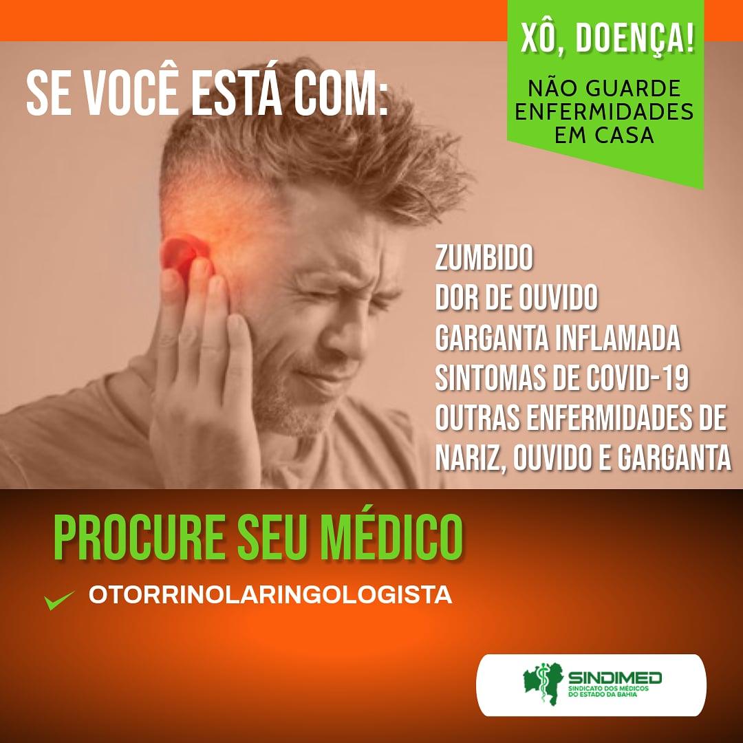 O otorrinolaringologista é o médico especializado em garganta, voz, vias nasossinusais e vias auditivas. Se você tiver problemas respiratórios, ou enfermidades relacionadas à garganta, nariz ou ao ouvido, procure este especialista. #otorrino #otorrinolaringologista #otorrinolaringologia #otorrinolaringología #otorrinos #zumbido #audicao #surdez #perdaauditiva #tontura #zumbido #saudeauditiva #audição #garganta #nariz #ouvido #secuidebem #autocuidado #medicina #medico #médicos #sindimedba #sindimed #sindimedbahia #médicosdabahia #saudeemprimeirolugar #covid #coronavirus #pandemia #prevenção