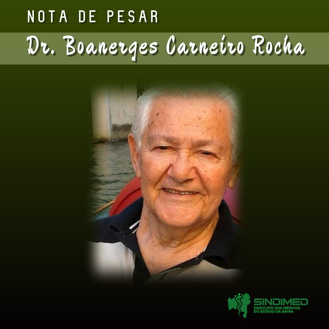 O Sindicato dos Médicos do Estado da Bahia informa com pesar o falecimento do Dr. Boanerges Carneiro Rocha. Médico anestesista, ele foi também presidente da Saeb, em 1973. O Sindimed se solidariza com a família e amigos. #notadepesar #médicodabahia #medicina #luto
