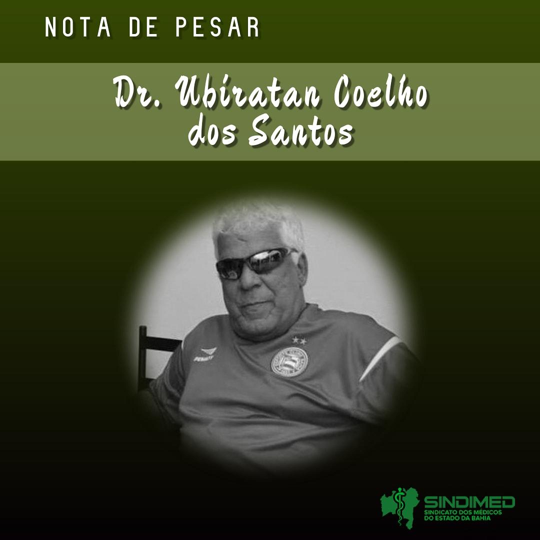 O Sindicato dos Médicos do Estado da Bahia lamenta a morte do médico Dr. Ubiratan Coelho dos Santos. Ele era hematologista e clínico geral. O Sindimed se solidariza com a família e amigos. #notadepesar #médicodabahia #medicina #luto