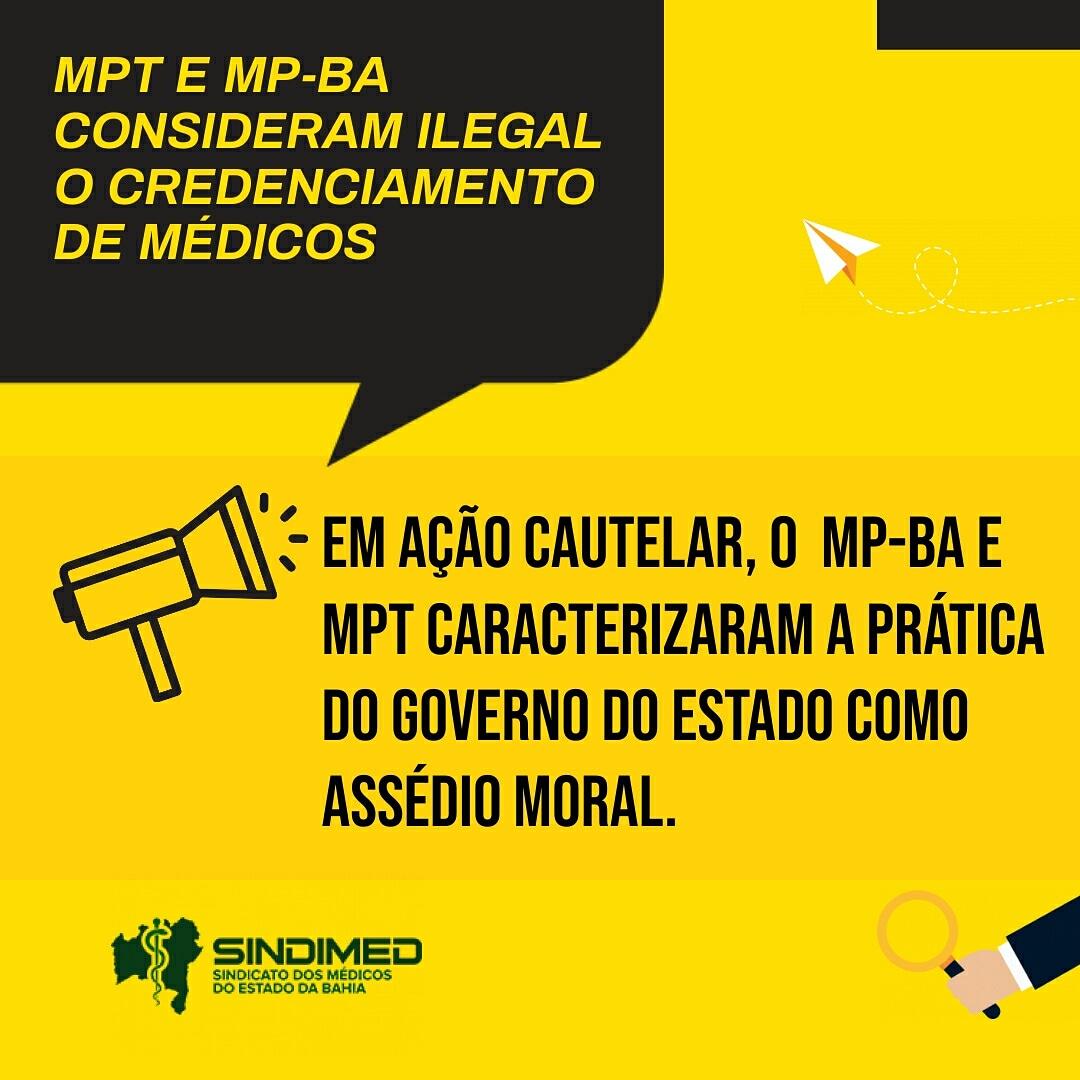 MPT E MP-BA CONSIDERAM ILEGAL O CREDENCIAMENTO DE MÉDICOS